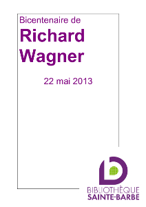 bibliographie bicentenaire de Richard Wagner
