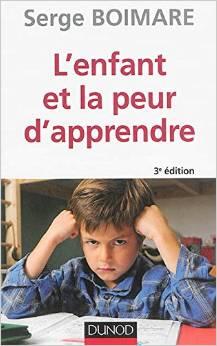 couverture l'enfant et la peur d'apprendre