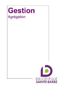 bibliographie gestion agreg