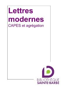 bibliographie lettres modernes CAPES agreg