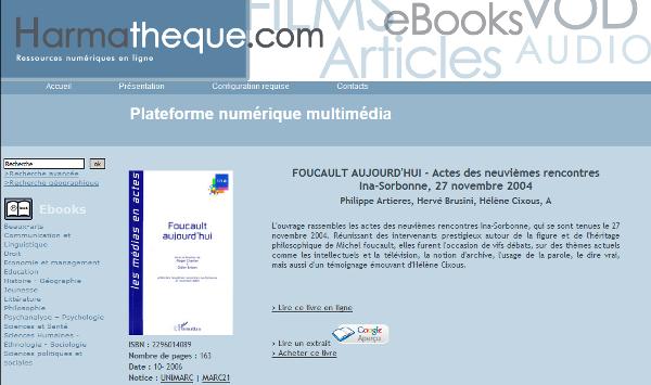 ebook Harmatheque