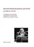 Bernard Heidsieck Poemes partitions