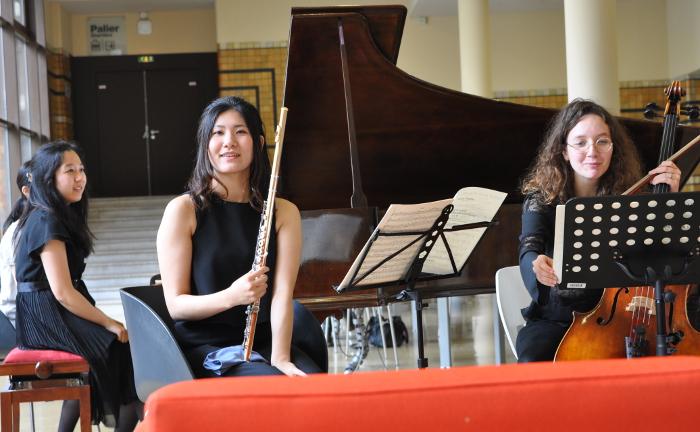 Nakamura piano Yuri flute Kremmer violoncelle