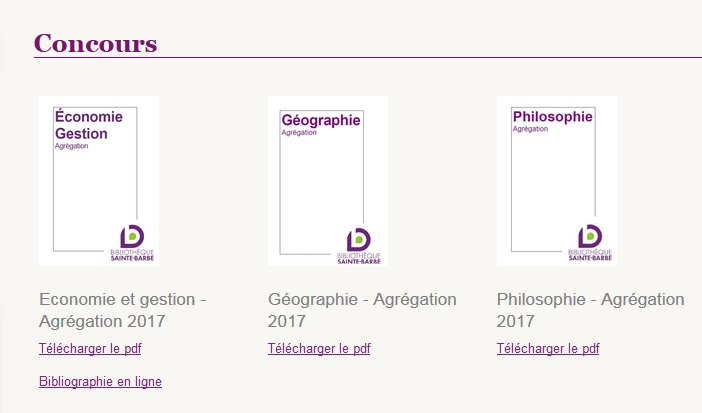 bibliographies concours