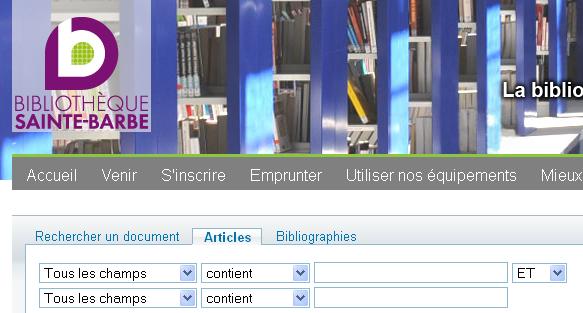 recherche catalogue 2