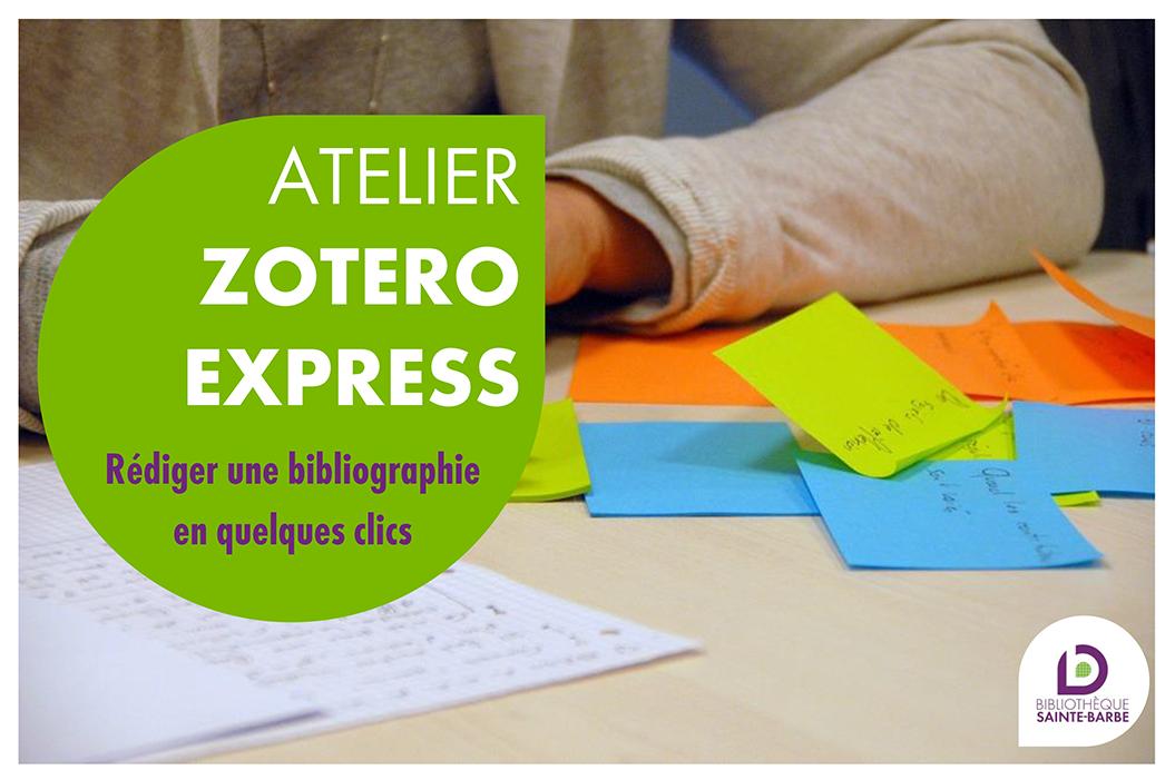 Atelier Zotero express 2018